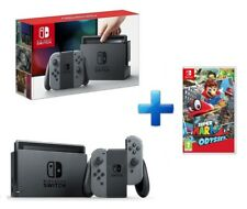 BUNDLE NINTENDO SWITCH GREY + VIDEOGIOCO SUPER MARIO ODYSSEY GIOCO ITALIANO PAL