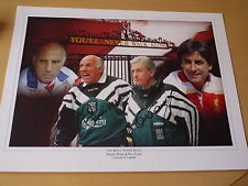 Signed Roy Evans & Ronnie Moran Liverpool FC 16x12 Montage - Proof & C.O.A.