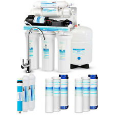 5 Stage Reverse Osmosis RO System Drinking Water Filter 75GPD with Booster Pump