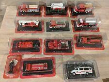 More details for del prado fire engine bundle x 11 vehicles and 1 figure. free uk postage.