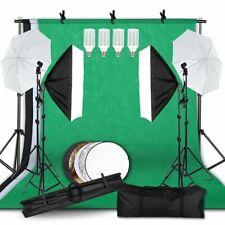 Lighting Kit Background Support System Backdrop Fabric Photo Studio Soft Box Set