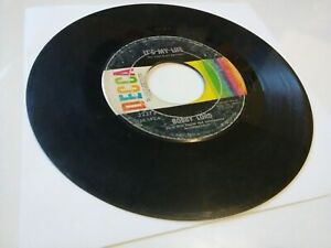 """[1968] Bobby Lord: The Lasting Kind / It's My Life [VG] 45 RPM 7"""" record (Decca)"""