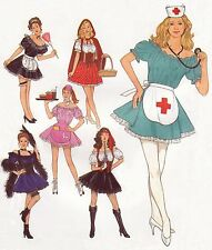 Slightly Naughty COSTUMES Maid Nurse Red Riding Hood 14-20 UNCUT Sewing Pattern