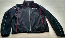 Descente Mens Waterproof Soft Shell Ski Jacket L Black w/ Red & White Piping