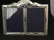 Beautiful Carrs of Sheffield 925 Solid Silver Double Photo Frame