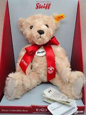 Steiff Elmar Teddy Bear Plush 11in 28cm ID Tags FAO Schwarz New Boxed 2015 Issue