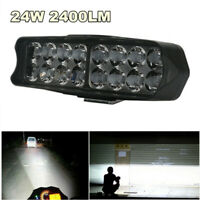 24W 2400LM Motorcycle Headlight Scooter Fog Spotlight LED Spot Light White DRL