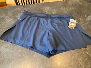 Women's Avia Navy Blue Athletic Running Compression Shorts Size XL (16/18) - NWT