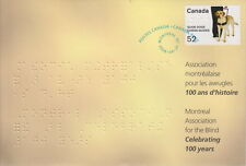 CANADA #S77 MONTREAL ASSOCIATION FOR THE BLIND (1908-2008) SPECIAL EVENT COVER
