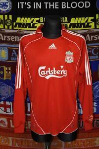5/5 Liverpool adults L 2006 home long sleeve football shirt jersey soccer