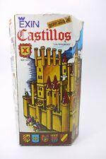 VINTAGE EXIN CASTILLOS CASTLE SET 0210 TOY BUILDING BLOCKS BRICKS + BOX
