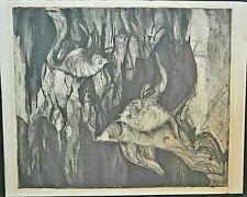 """Artist Proof  """"Under Water"""" Black and White Signed by Susan Amstater    7-A"""
