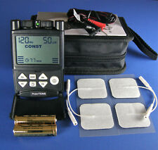 TENS Machine 2 channel, large LCD, carry case, NEW, 2 year warranty, FREE UK P&P