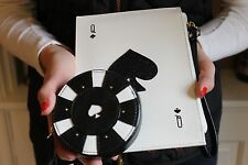 KATE SPADE Queen of Spades Card Wristlet & Poker Chip Coin Purse SET Las Vegas