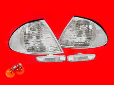 CLEAR INDICATORS & SIDE REPEATERS FOR BMW E46 3 SERIES SALOON & ESTATE 98-01