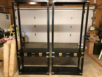 Pair of Vintage Hekman Lighted Display Cases W/Glass Shelves