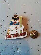 Pin's Pins Switzerland Suisse Swiss ski bonhomme de neige