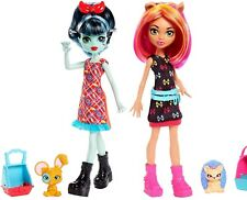 Monster High Monster Family ALIVIA STEIN & HOWLEEN WOLF Dolls with Pets NEW 2018