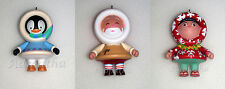2011 Hallmark MYSTERY FROSTY Ornament Set of 3 ALOHA, PENGUIN & TOYMAKER SANTA