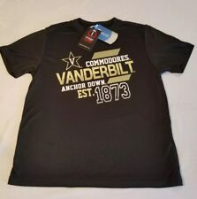 Image One NCAA Youth Short Sleeve Polyester Competitor T-Shirt Vanderbilt Small