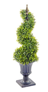 Artificial Boxwood Spiral Topiary with Pot 90cm House Plant Garden Home Decor