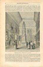 Paris Musée Naval du Louvre Salle La Pérouse Maquette de Bateaux GRAVURE 1847