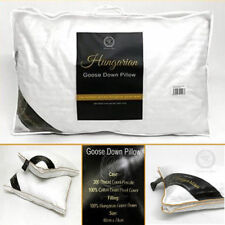Luxury 100% Hungarian Goose Down Pillow Bed Feather Snow White Hotel Quality New