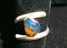 BEAUTIFUL DOMINICAN   BLUE AMBER  RING  SIZE   7