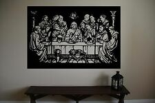 THE LAST SUPPER Religion Jesus Vinyl Wall Sticker Decal 30 in w x 22 in h