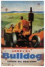 LANZ & KL BULLDOG TRACTOR Rustic Tin Sign 30 x 45 cm
