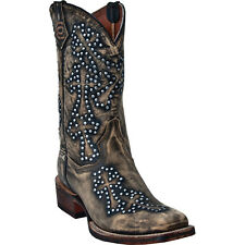 DAN POST STUD CROSS WALKER LEATHER COWBOY BOOTS DP3907 WOMENS 6M NEW IN BOX