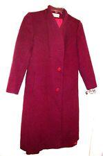 Bromleigh Burgundy Crimson Wool Long Coat Size Medium 9 10