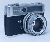 YASHICA Lynx 5000 Vintage Rangefinder 35mm Film Camera Yashinon 45mm f/1.8 Lens