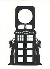 Doctor Who Weeping Angel Black Door Knob Hanger Plastic Sign Do Not Disturb