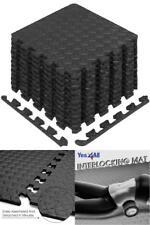 12 Piece Rubber Gym Floor Mat Foam Flooring Exercise Workout Fitness Equipment