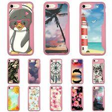 """For Apple iPhone 7 Plus / iPhone 8 Plus (5.5"""") Slim Pink Soft Edge Bumper Case"""
