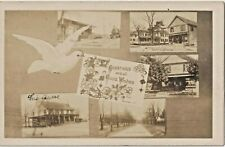 RP Real Photo RARE Multi-view of Dayton NJ  RR Station, Post Office, more 1909