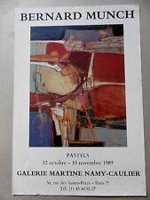 Affiche originale Bernard MUNCH 1989 Pastels  Abstrait ORIGINAL POSTER ABSTRACT