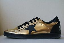 GOLDEN GOOSE BALL STAR record EDIZIONE Metallico Cuoio Scarpe Da Ginnastica EU 38 UK 5 US 8