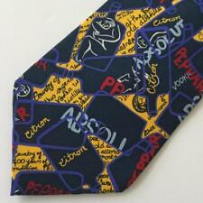 Absolut Vodka Citron Peppar Mens Tie by Nadia Roden Abstract Art Pattern