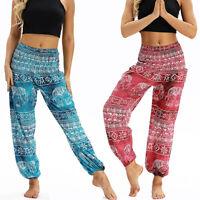 Women Thai Elephant Baggy Harem Pants Hippie Boho Beach Ladies Trousers Ali Yoga