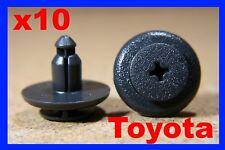 10 Toyota door fascia trim panel door card fixing fittings fastener clips