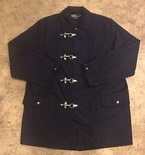 Beautful Vintage Polo Ralph Lauren Firefighter Jacket Sailor Metal Heavy Coat