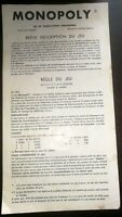Règles du Jeu MonopolyMiro Company / Licence Parker Brothers USA 1936