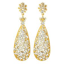 Amrita Singh Womens Eloise Crystal Gold Large Statement Earrings ERC 54 NWT
