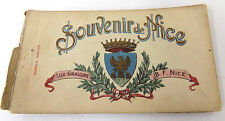 Souvenir Postcard Booklet Nice France 1910's by Baylone Freres 19 Color Cards