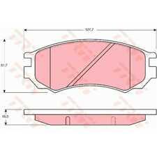 TRW Bremsbeläge GDB1141 Bremsklötze Nissan Sunny III Hatchback N14