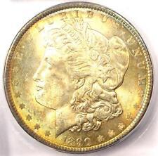 1890 Morgan Silver Dollar $1 - ICG MS65 - Rare Date in MS65 - $1,380 Guide Value