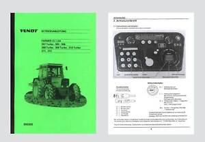 Fendt Farmer 310 LSA Betriebsanleitung 1989