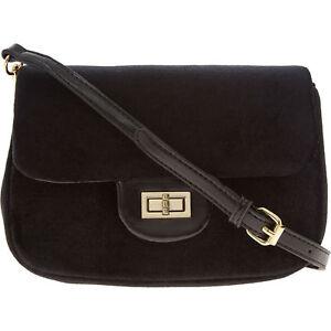 Designer CHRISTIAN LACROIX Black Marlene Velvet Crossbody Handbag + Dust Bag